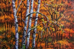 Autumn Birches18x24 acrylic